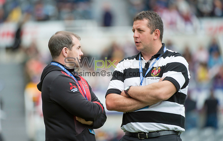 Picture by Allan McKenzie/SWpix.com - 21/05/2017 - Rugby League - Dacia Magic Weekend - Huddersfield Giants v Catalan Dragons - St James' Park, Newcastle, England - The brief, Ian Watson & Neil Jukes.