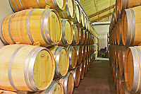 Domaine de l'Hortus. Pic St Loup. Languedoc. Barrel cellar. France. Europe.