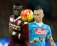 Afriyie AcquahNapoli's Marek Hamsik  during the  italian serie a soccer match,between SSC Napoli and Torino      at  the San  Paolo   stadium in Naples  Italy , January 07, 2016