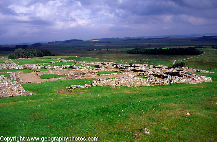 Roman fort at Housesteads, Northumberland, England
