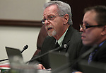 Nevada Assemblymen Glenn Trowbridge, left, and John Moore, both R-Las Vegas, work in committee at the Legislative Building in Carson City, Nev., on Tuesday, March 17, 2015. <br /> Photo by Cathleen Allison