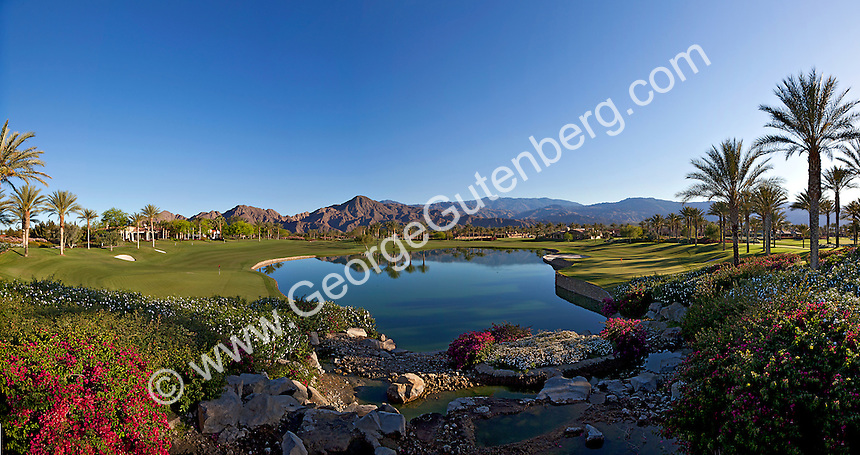 Stock panoramic photo of Toscana Country Club golf course
