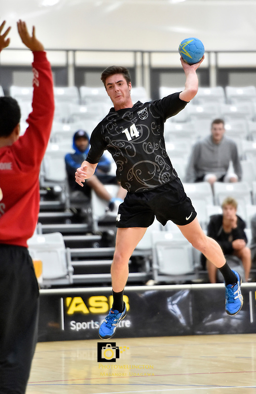 Action from the IHF Trophy Tournament Oceania at ASB Sports Centre, Kilbirnie, Wellington, New Zealand on Saturday 13 December 2014. <br /> Photo by Masanori Udagawa. <br /> www.photowellington.photoshelter.com.
