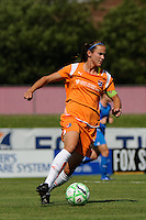 Keeley Dowling (17) of Sky Blue FC. Sky Blue FC defeated the Boston Breakers 1-0 during a Women's Professional Soccer match at Yurcak Field in Piscataway, NJ, on July 4, 2009.