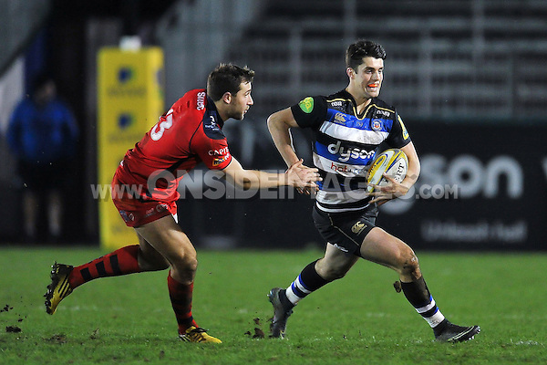 Adam Hastings of Bath United goes on the attack. Aviva A-League match, between Bath United and Bristol United on December 28, 2015 at the Recreation Ground in Bath, England. Photo by: Patrick Khachfe / Onside Images