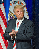 Donald J. Trump, the Republican candidate for President of the United States, arrives for a campaign appearance at Briar Woods High School in Ashburn, Virginia on Tuesday, August 2, 2016.<br /> Credit: Ron Sachs / CNP