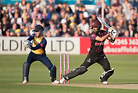 Babar Azam of Somerset CCC cuts to the point boundary for four runs during Essex Eagles vs Somerset, Vitality Blast T20 Cricket at The Cloudfm County Ground on 7th August 2019
