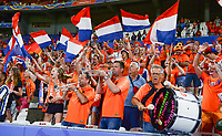 20190703 - LYON , FRANCE : Dutch fans and supporters pictured celebrating after winning the female soccer game between Netherlands – Oranje Leeuwinnen - and Sweden  , a knock out game in the semi finals of the FIFA Women's  World Championship in France 2019, Wednesday 3 th July 2019 at the Stade de Lyon  Stadium in Lyon  , France .  PHOTO SPORTPIX.BE | DAVID CATRY