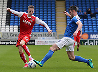 Fleetwood Town's Ashley Hunter battles with Peterborough United's Andrew Hughes<br /> <br /> Photographer David Shipman/CameraSport<br /> <br /> The EFL Sky Bet League One - Peterborough United v Fleetwood Town - Friday 14th April 2016 - ABAX Stadium  - Peterborough<br /> <br /> World Copyright &copy; 2017 CameraSport. All rights reserved. 43 Linden Ave. Countesthorpe. Leicester. England. LE8 5PG - Tel: +44 (0) 116 277 4147 - admin@camerasport.com - www.camerasport.com