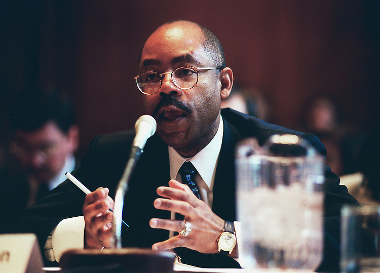 4-15-99.TRANSPORTATION EQUITY ACT-- Gordon Linton- administrator,federal Transit Administration, during the Senate Transportation and Infrastructure Subcommittee Transportation Equity Act..CONGRESSIONAL QUARTERLY PHOTO BY DOUGLAS GRAHAM