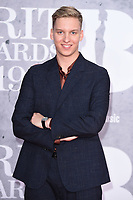 George Ezra<br /> arriving for the BRIT Awards 2019 at the O2 Arena, London<br /> <br /> ©Ash Knotek  D3482  20/02/2019<br /> <br /> *images for editorial use only*