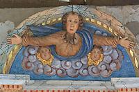 France, Aquitaine, Pyrénées-Atlantiques (64), Jatxou, Chapelle Saint-Sauveur-de-Faldarcon, le haut du retable // France, Aquitaine, Pyrénées-Atlantiques, Jatxou, Chapel Saint-Sauveur-de-Faldarcon, top of the altarpiece