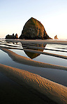 Haystack Rock and tidepools at Cannon Beach,OR