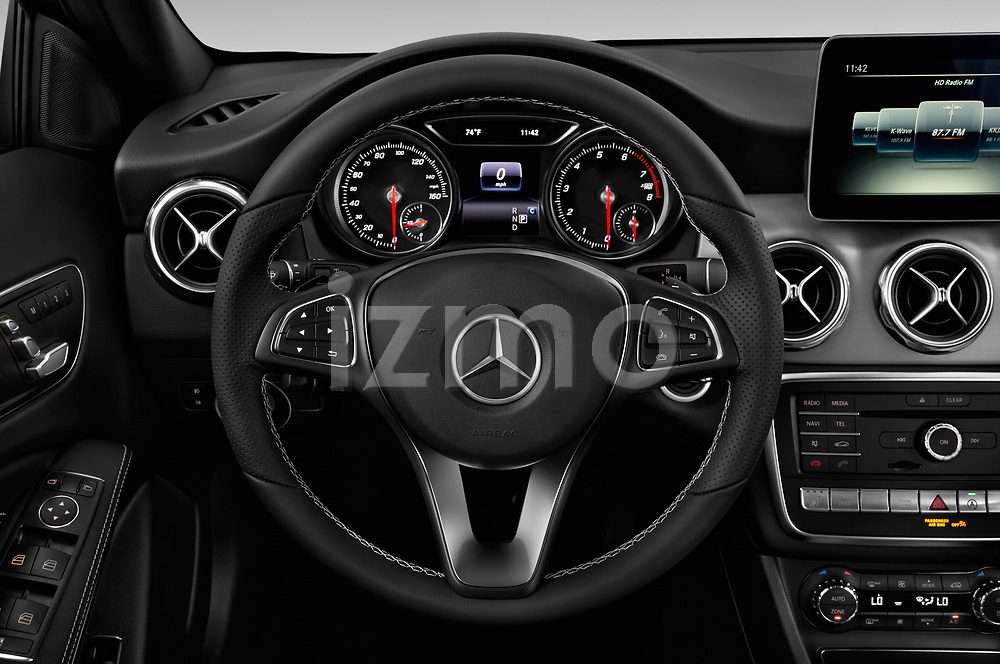 Car pictures of steering wheel view of a 2018 Mercedes Benz GLA 250 4MATIC 5 Door SUV
