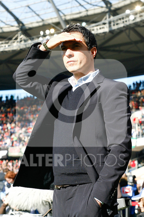19.03.2011, AWD Arena, Hannover, GER, 1.FBL, Hannover 96 vs TSG 1899 Hoffenheim, im Bild Marco Pezzaiuoli (Trainer Hoffenheim) .Foto © nph / Schrader