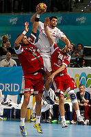 17.01.2013 World Championshio Handball. Match between Spain vs Hungray at the stadium La Caja Magica. The picture show  Alberto Entrerrios Rodriguez (Left Back of Spain)