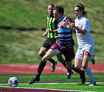 DeSmet's Thomas Redmond (left) and Francis Howell Central's Noah Heath fight for possession. DeSmet defeated Francis Howell Central 2-1 on Saturday September 14, 2019.<br /> Tim Vizer/Special to STLhighschoolsports.com