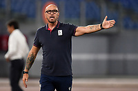 Walter Zenga coach of Cagliari reacts during the Serie A football match between SS Lazio and Cagliari Calcio at Olimpico stadium in Rome ( Italy ), July 23th, 2020. Play resumes behind closed doors following the outbreak of the coronavirus disease. Photo Andrea Staccioli / Insidefoto
