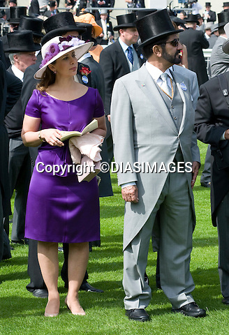 "PRINCESS HAYA AL MAKTOUM AND SHEIKH RASHID AL MAKTOUM, ROYAL ASCOT.attends the opening day of Royal Ascot, the premier race event of the calendar, Ascot_14/11/2011.Mandatory Credit Photo: ©DIAS-DIASIMAGES..**ALL FEES PAYABLE TO: ""NEWSPIX INTERNATIONAL""**..IMMEDIATE CONFIRMATION OF USAGE REQUIRED:.DiasImages, 31a Chinnery Hill, Bishop's Stortford, ENGLAND CM23 3PS.Tel:+441279 324672  ; Fax: +441279656877.Mobile:  07775681153.e-mail: info@newspixinternational.co.uk"