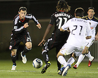 Joseph Ngwenya(11) of D.C. United blocks Michael Farfan(21) of the Philadelphia Union so Blake Brettechneider(29) can play the ball during a play-in game for the US Open Cup tournament at Maryland Sportsplex, in Boyds, Maryland on April 6 2011. D.C. United won 3-2 after overtime penalty kicks.