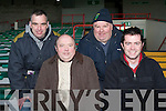 CASTLEGREGORY: Supporting the Castlegregory team at the Gaelic Grounds in Limerick on Sunday l-r: Denis Dowling, Pat Dowd, Neil Ahern and Tom Dowling.