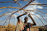 Haredo Nunow Noor just arrived in the Dadaab refugee camp in northeastern Kenya, and builds a temporary hut as she awaits longer-term housing. Tens of thousands of refugees have fled drought-stricken Somalia in recent weeks, swelling what was already the world's largest refugee settlement.