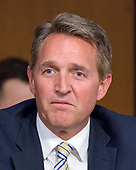 United States Senator Jeff Flake (Republican of Arizona) questions Judge Neil Gorsuch as he testifies before the United States Senate Judiciary Committee on his nomination as Associate Justice of the US Supreme Court to replace the late Justice Antonin Scalia on Capitol Hill in Washington, DC on Wednesday, March 22, 2017.<br /> Credit: Ron Sachs / CNP