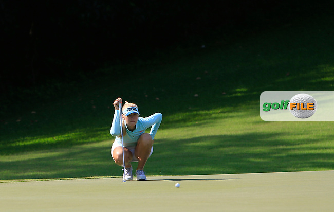 Jessica Korda (USA) on the 1st green during Round 3 of the HSBC Women's Champions at the Sentosa Golf Club, The Serapong Course in Singapore on Saturday 7th March 2015.<br /> Picture:  Thos Caffrey / www.golffile.ie
