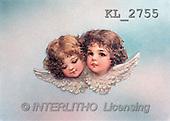 Interlitho, Erica, CHRISTMAS SANTA, SNOWMAN, nostalgic, paintings, 2 angel(KL2755,#X#) Weihnachten, nostalgisch, Navidad, nostálgico, illustrations, pinturas
