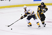 8th June 2017, Pittsburgh, PA, USA; Nashville Predators center Calle Jarnkrok (19) plays the puck around Pittsburgh Penguins right wing Phil Kessel (81) during the second period in Game Five of the 2017 NHL Stanley Cup Final between the Nashville Predators and the Pittsburgh Penguins on June 8, 2017, at PPG Paints Arena