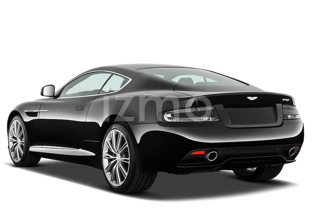 Rear three quarter view of a 2012 Aston Martin Virage