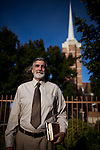 SACRAMENTO, CA - JUNE 16, 2014:  Mormon blogger Rock Waterman poses for a portrait at an LDS church. Waterman has been asked to resign from the church or stop blogging. CREDIT: Max Whittaker for The New York Times