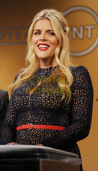 Busy Philipps .19th Annual Screen Actors Guild Awards Nominations Announcement held at the Pacific Design Center, West Hollywood, California, USA..December 12th, 2012.SAG half length lace dress belt blue lipstick podium speech.CAP/ROT/TM.©Tony Michaels/Roth Stock/Capital Pictures