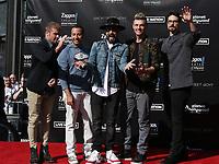 12 April 2019 - Las Vegas, NV - BackStreet Boys, Brian Littrell, AJ McLean, Howie Dorough, Nick Carter, Kevin Richardson. Backstreet Boys Hand print ceremony at Planet Hollywood Resort and Casino.<br /> CAP/ADM/MJT<br /> &copy; MJT/ADM/Capital Pictures
