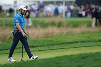 Tyrrell Hatton (ENG) on the 1st green during the 2nd round at the PGA Championship 2019, Beth Page Black, New York, USA. 18/05/2019.<br /> Picture Fran Caffrey / Golffile.ie<br /> <br /> All photo usage must carry mandatory copyright credit (&copy; Golffile | Fran Caffrey)