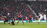 Gylfi Sigurdsson of Swansea City scores his sides second goal during the Barclays Premier League match between AFC Bournemouth and Swansea City played at The Vitality Stadium, Bournemouth on March 12th 2016