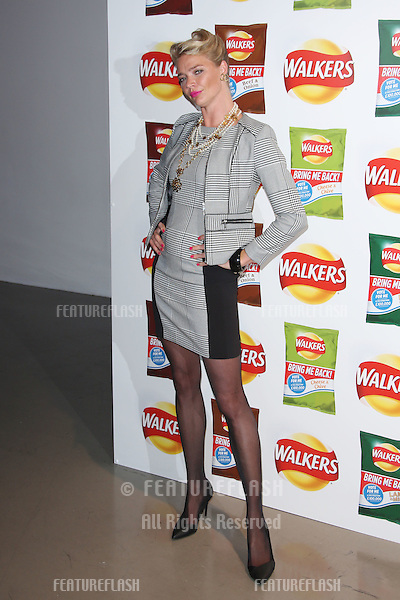 Jodie Kidd arriving at Walkers' Bring It Back campaign launch party held at Vinopolis, London. <br /> September 3, 2015  London, UK<br /> Picture: James Smith / Featureflash