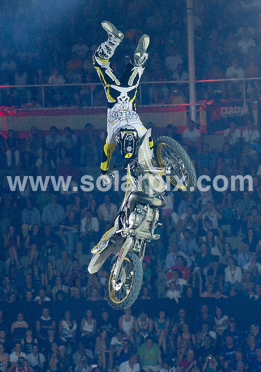 **ALL ROUND PICTURES FROM SOLARPIX.COM**                                             **WORLDWIDE SYNDICATION RIGHTS EXCEPT SPAIN - NO SYNDICATION IN SPAIN**                                                                                  Caption: Red Bull X Fighter 2011 at the Plaza de las Ventas, Madrid, Spain. 15 July 2011.This pic: Maikel Melero                                                                   JOB REF: 13726 DMS Drake      DATE: 15_07_2011                                                           **MUST CREDIT SOLARPIX.COM OR DOUBLE FEE WILL BE CHARGED**                                                                      **MUST AGREE FEE BEFORE ONLINE USAGE**                               **CALL US ON: +34 952 811 768 or LOW RATE FROM UK 0844 617 7637**