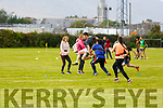 Action from the KETB Schools Senior Cycle Tag Rugby blitz in the Kerry Sports and Leisure Centre, Tralee on Monday.