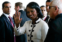 US Secretary of States, Condolisa Rice (C) arriver for  Meeting of the Quartet of Middie East Peace Mediators at Centro Cultural Belém in Lisbon 20 July 2007 -