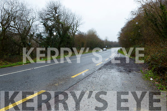 the scene of the fatal crash in Brennan's Glen on the Farranfore to Killarney road on Sunday