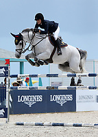 www.acepixs.com<br /> <br /> April 15 2017, Miami<br /> <br /> Jessica Rae Springsteen competes at the Longines Global Champions Tour stop in Miami Beach - Global Champions League Final  on April 15, 2017 in Miami Beach, Florida.<br /> <br /> By Line: Solar/ACE Pictures<br /> <br /> ACE Pictures Inc<br /> Tel: 6467670430<br /> Email: info@acepixs.com<br /> www.acepixs.com