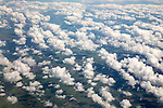 Broken cumulus cloud seen from above looking down