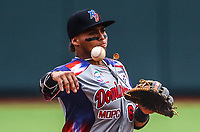 Gustavo Ni&ntilde;ez (6)  &Aacute;guilas Cibae&ntilde;as de Republica Dominicana.<br /> <br /> Aspectos del segundo d&iacute;a de actividades de la Serie del Caribe con el partido de beisbol  &Aacute;guilas Cibae&ntilde;as de Republica Dominicana contra Caribes de Anzo&aacute;tegui de Venezuela en estadio Panamericano en Guadalajara, M&eacute;xico,  s&aacute;bado 3 feb 2018. (Foto  / Luis Gutierrez)