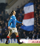 Belil Mohsni laughing after hitting the post