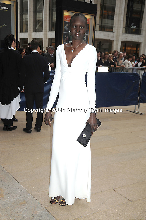 Alek Wek attends the American Ballet Theatre Spring Gala at The Metropolitan Opera House at Lincoln Center on May 14, 2012.