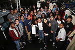 "Taran Killam and James Basker, President of the Gilder Lehrman Institute, with Student performers attend The Rockefeller Foundation and The Gilder Lehrman Institute of American History sponsored High School student #EduHam matinee performance of ""Hamilton"" at the Richard Rodgers Theatre on 3/29/2017 in New York City."