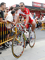 Leonardo Duque during the stage of La Vuelta 2012 between Barakaldo and Valdezcaray.August 21,2012. (ALTERPHOTOS/Acero) /NortePhoto.com