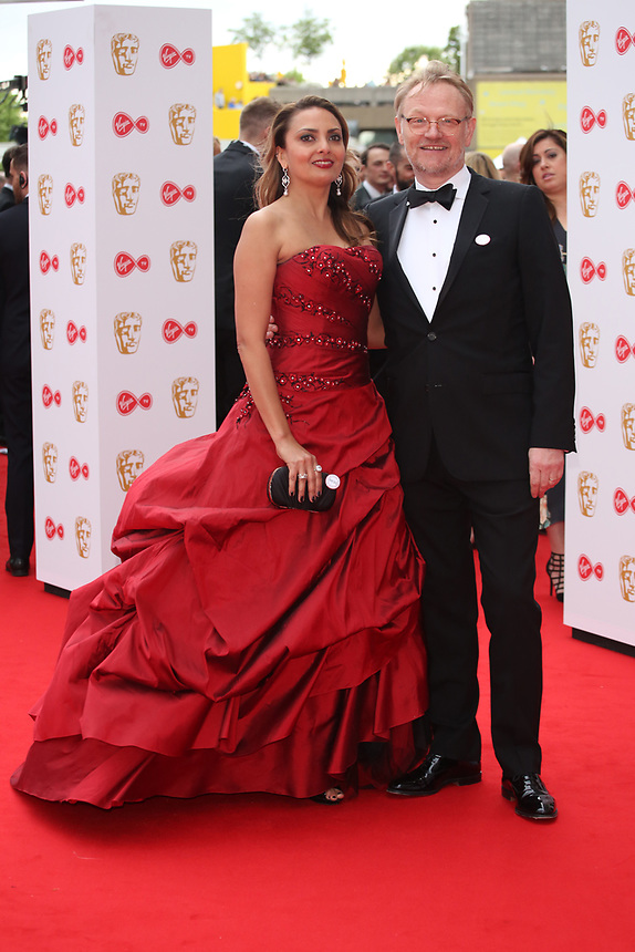 Allegra Riggo and Jarred Harris <br />  arriving at the Bafta Tv awards 2017. Royal Festival Hall,London  <br /> ©Ash Knotek
