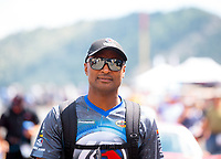 Jul 21, 2019; Morrison, CO, USA; NHRA top fuel driver Antron Brown during the Mile High Nationals at Bandimere Speedway. Mandatory Credit: Mark J. Rebilas-USA TODAY Sports